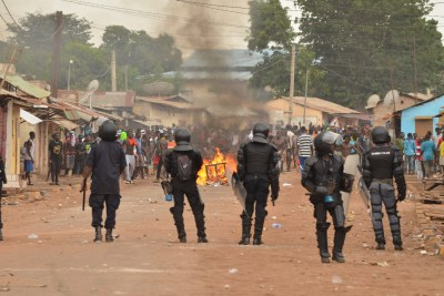 ECOMIG Deploys forces in Brikama after Protesters Set Old Market Ablaze