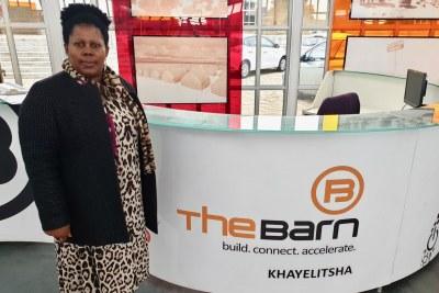 Fezeka Mavuso in the Bandwidth Barn, a hub for entrepreneurs in Khayelitsha.