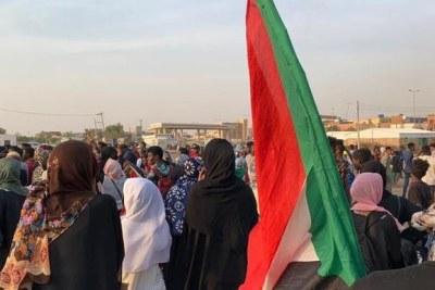 A protest vigil against the military junta in Khartoum North, July 29, 2019.