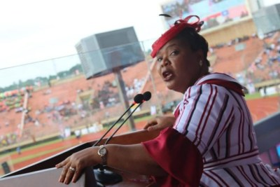 Nobel Laureate and National Orator for Liberia's 172nd Independence Day, Leymah Roberta Gbowee.