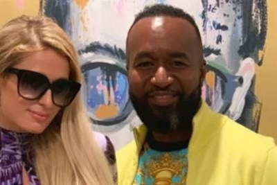 Mombasa Governor Hassan Joho with American media personality, businesswoman, socialite, model and singer Paris Hilton.