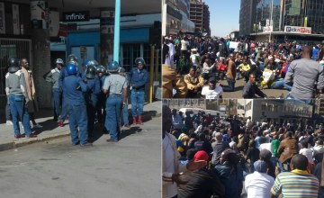 Clashes in the Streets as Zimbabwe Protest Banned