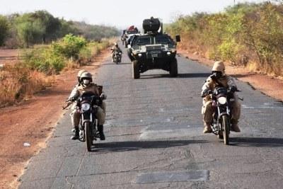 Un détachement militaire
