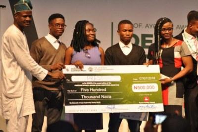 Winners of the Professor Ayodele Awojobi Design Competition.