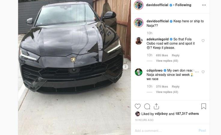 Nigeria: Davido Gifts Self a U S $200,000 Lamborghini Urus