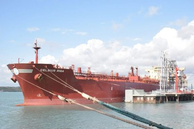 Celsius Riga, the vessel to ship Kenya's crude oil at the Port of Mombasa.
