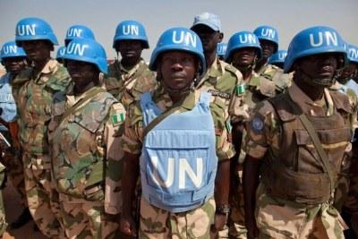 UNAMID peacekeepers in Darfur taken 2012