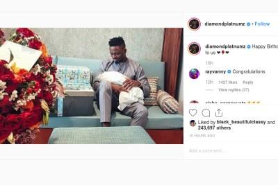 Tanasha Donna gives birth to baby boy on Diamond's birthday.