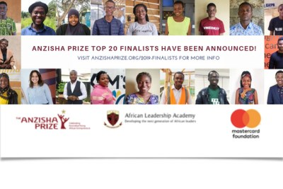 Meet the 2019 Anzisha Prize Finalists! The Anzisha Program is a partnership between African Leadership Academy and Mastercard Foundation that seeks to fundamentally and significantly increase the number of job generative entrepreneurs in Africa. We believe that a key to doing so is to test, implement and then share models for identifying, training and connecting high potential, very young entrepreneurs (15 to 22 year olds) so that many more organisations have better collective success in creating a pipeline of entrepreneurs with the capabilities for scale.