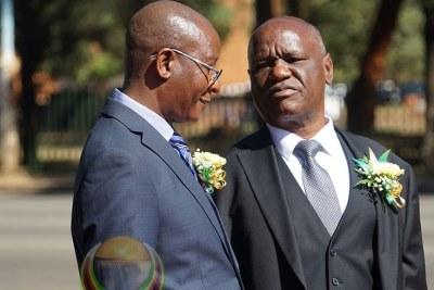 From left Justice Minister Ziyambi Ziyambi and Chief Justice Luke Malaba.