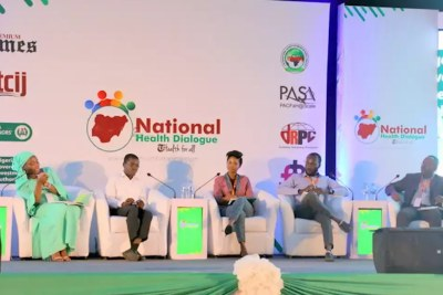 A panel discussion at the National Health Dialogue
