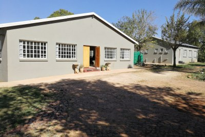The Lottery funding given to Denzhe was to build a brand new rehab. Instead, Lesley Ramulifho found an existing rehab and demolished it and rebuilt a brand new facility. The new rehab, pictured above, is unfinished and mostly not in use.