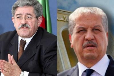 Les ex-Premiers ministres Ouyahia (à gauche) et Sellal