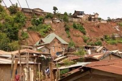 Les dégâts matériels enregistrés à la suite d'une pluie diluvienne qui s'est abattue samedi 11 janvier sur la ville de Bukavu.