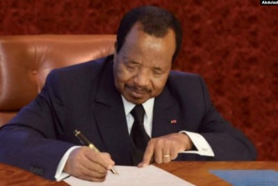 Cameroon President Paul Biya (file photo).