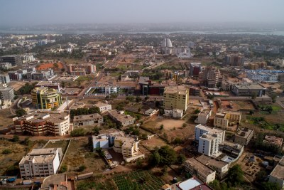 A view of Bamako, Mali with the Niger River in the background.