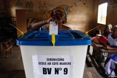 Voting in Mali on 19 April