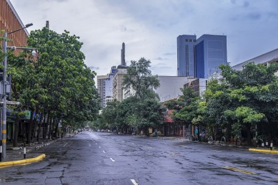 Pandemic restrictions have emptied Nairobi streets of the usual traffic (file photo).