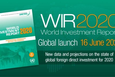 Twitter publicity image for the 2020 World Investment Report.