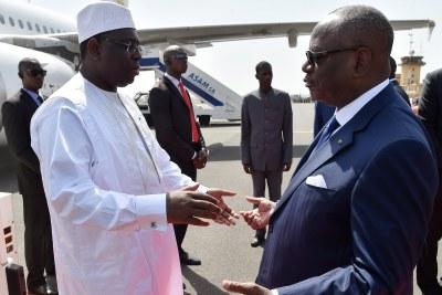 Le président sénégalais Macky Sall en compagnie de son homologue malien le président IBK.(photo d'archives)