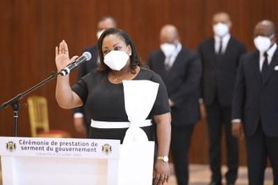 Prestation de serment d'un membre du gouvernement gabonais