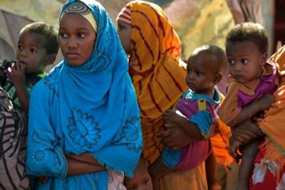 Women and their children in Somalia.