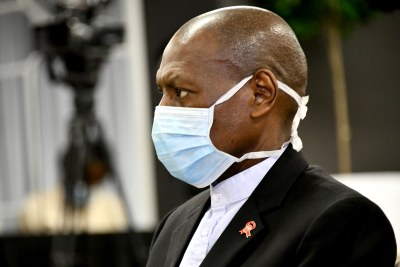 South African Health Minister Zweli Mkhize addressing the media (file photo).