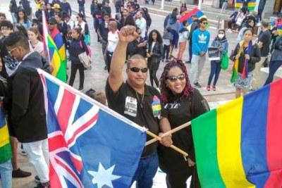 La diaspora mauricienne en communion avec les marcheurs de Port-Louis
