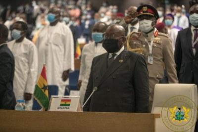 Le President Nana Akufo-Addo lors de son élection à la tête de la CEDEAO