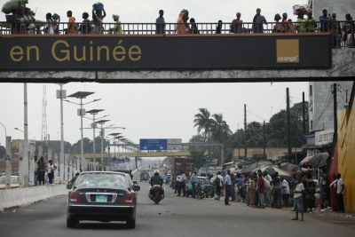 Guineans in the capital city of Conakry (file photo).
