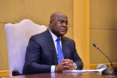 President Felix Tshisekedi (file photo).