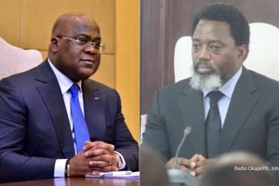 Président Félix-Antoine Tshisekedi Tshilombo  and former president Joseph Kabila