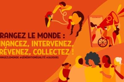 La campagne Tous UNiS, d'ici à 2030, pour mettre fin à la violence à l'égard des femmes du Secrétaire général des Nations Unies marque les jours d'activisme contre la violence faite aux femmes (du 25 novembre au 10 décembre 2020) sur le thème global «Orangez le monde : Financez, intervenez, prévenez, collectez!»