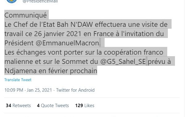 West Africa: France's Macron Holds Meeting With Mali's Interim Leader Ahead of G5 Sahel