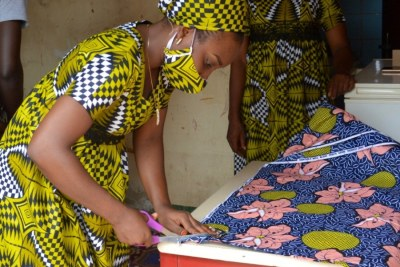 Kinanata Sali Yaya, 27, is an entrepreneur who started a mask manufacturing business with her sister and brother in response to the COVID-19 pandemic in the Central African Republic.