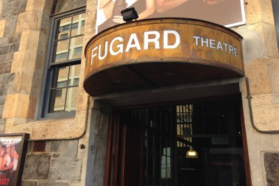 The front door of the Fugard Theatre in Cape Town.