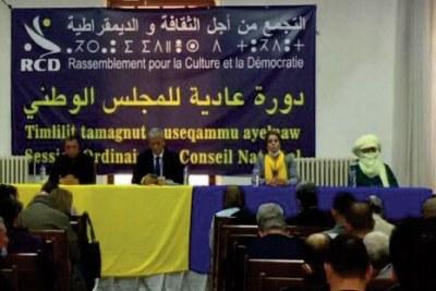 Session ordinaire du Conseil national du Rassemblement pour le culture et la démocratie (RCD), tenue samedi 20 mars 2021 à Alger.