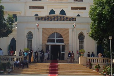 Niger's presidential palace in the capital Niamey (file photo).