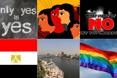Egyptian flag, Cairo, LGBTQI Flag