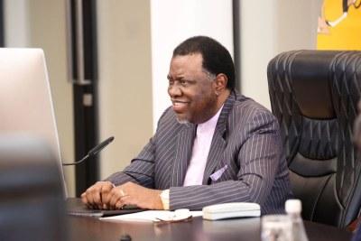 Namibian President Hage Geingob (file photo).