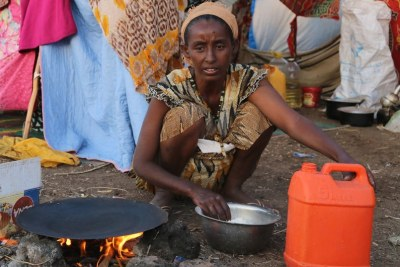 Tens of thousands of Ethiopians have been displaced by the ongoing conflict in the Tigray region (file image).