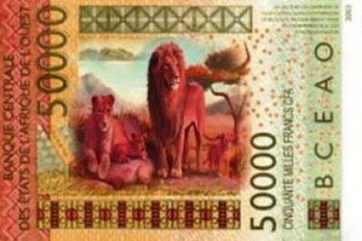 Spécimen faux billet de 50.000 F Cfa