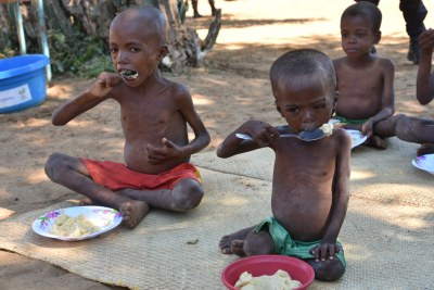 The UN's World Food Programme provided hundreds of meals to malnourished children and elderly people weakened by hunger in the  commune of Sihanamaro, 30 km from Ambovombe, the capital of the Androy region in southern Madagascar.