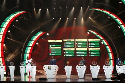 Cérémonie de tirage au sort de la Coupe d'Afrique des Nations TotalEnergies 2021 prévue au Cameroun