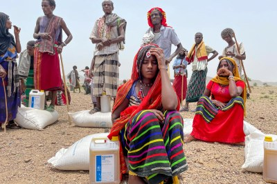 A general food distribution point in Afar, Ethiopia, August 30, 2021.